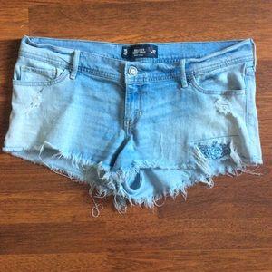 15 Hollister Denim Short Shorts, Distressed
